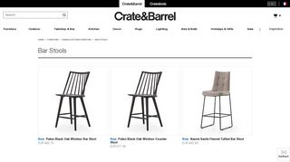 Crate & Barrel Bar Stools