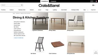 Crate & Barrel Dining Furniture